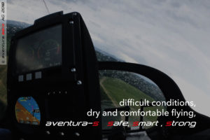 3D-shaped canopy protects well - the crew stays dry and warm!